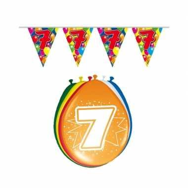 Leeftijd feestartikelen 7 jaar setje- feestje!