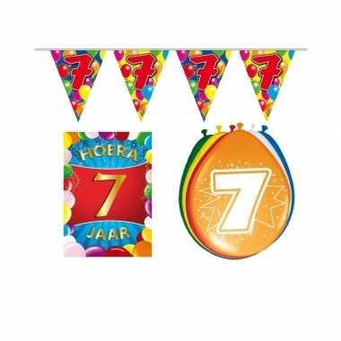 Leeftijd feestartikelen 7 jaar voordeel pakket- feestje!