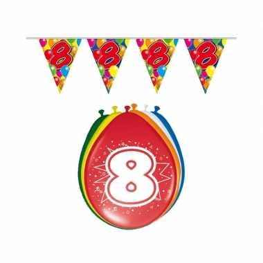 Leeftijd feestartikelen 8 jaar setje- feestje!