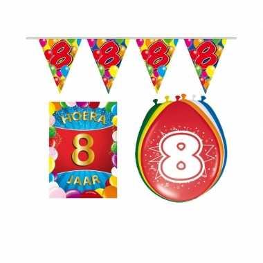 Leeftijd feestartikelen 8 jaar voordeel pakket- feestje!