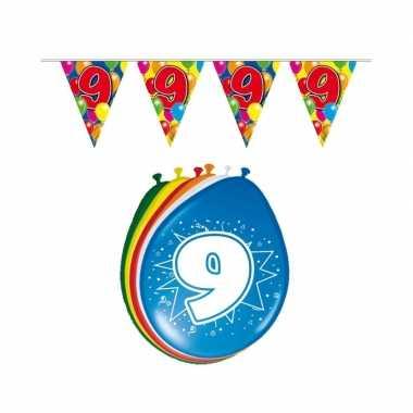 Leeftijd feestartikelen 9 jaar setje- feestje!