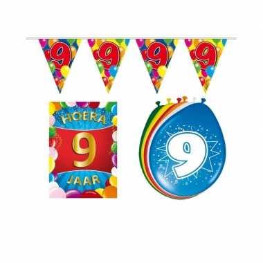 Leeftijd feestartikelen 9 jaar voordeel pakket- feestje!