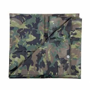 Leger thema feest camouflage afdekzeil groen 1,9 x 3 meter- feestje!