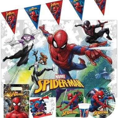 Marvel spiderman kinderfeest tafeldecoratie pakket 2-6 personenfeestj
