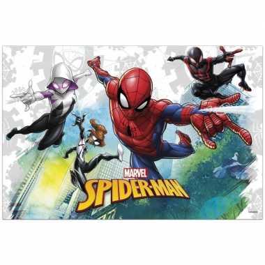 Marvel spiderman themafeest tafelkleed/tafelzeil 120 x 180 cm- feestj