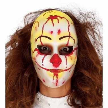 Moordenaar clown masker voor horror themafeest- feestje!