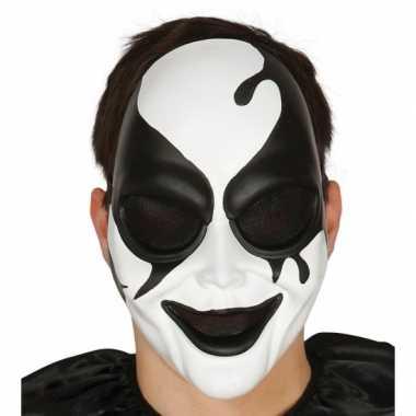 Moordenaar harlekijn masker voor horror themafeest feestje