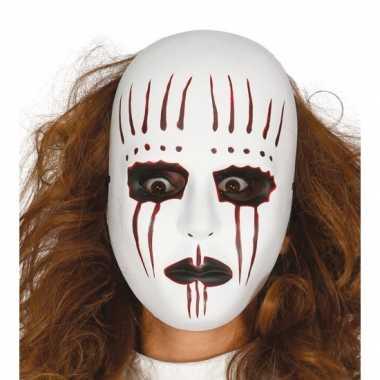 Moordenaar mime masker voor horror themafeest feestje
