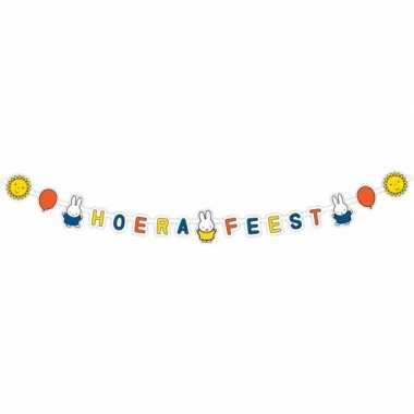 Nijntje themafeest wenslijn/letterslinger 218 x 12 cm- feestje!