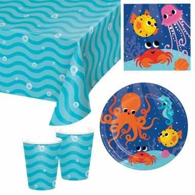 Oceaan thema kinderfeestje servies pakket 9-16 personenfeestje!
