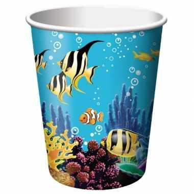 Oceaan themafeest bekertjes 8 stuks- feestje!