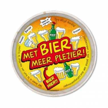 Oktoberfest - feest metalen dienblad bier 30 cmfeestje!