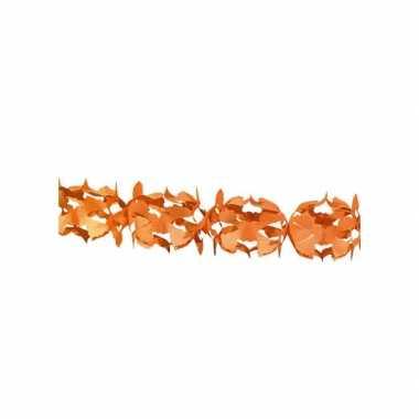 Oranje feest slinger 6 meter feestje