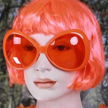 Oranje grote feest brillen feestje