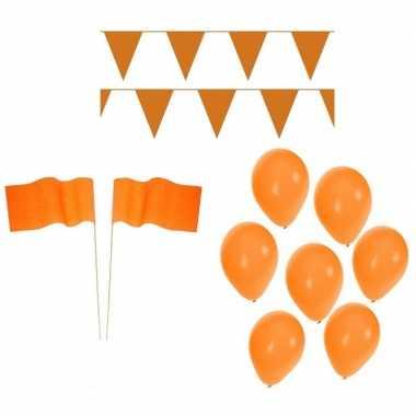 Oranje koningsdag versiering feestpakket- feestje!
