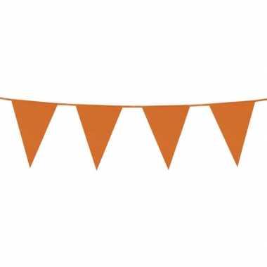Oranje plastic buiten feest vlaggetjes 500 meter- feestje!