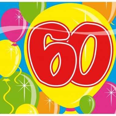 Party servetten 60 jarig feestje- feestje!