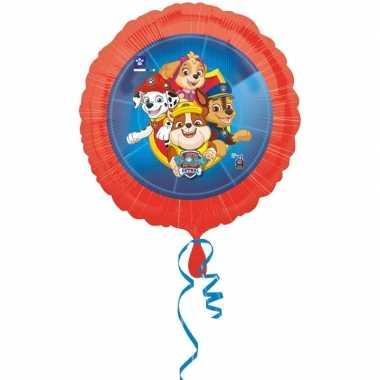 Paw patrol themafeest folie ballon 43 cm- feestje!