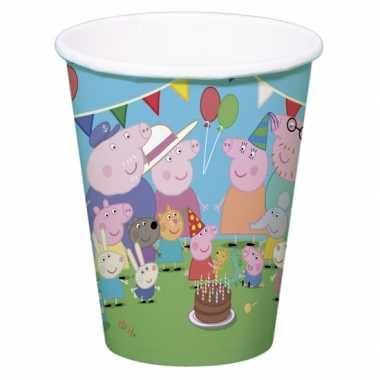 Peppa big kinderfeest bekertjes 8 stuks- feestje!