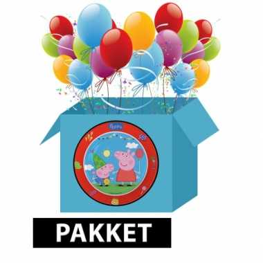 Peppa big kinderfeest pakket- feestje!