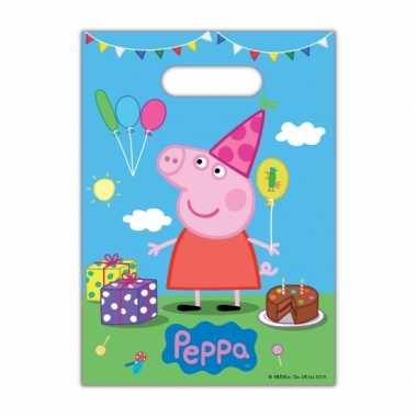 Peppa big kinderfeest uitdeelzakjes 8 stuks- feestje!
