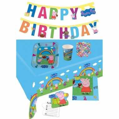 Peppa big kinderfeestje feestpakket 7-12 personenfeestje!
