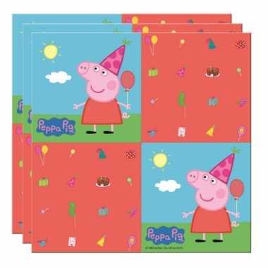 Peppa pig thema kinderfeest servetten 20 stuks- feestje!