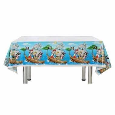 Piratenfeestje blauw tafelkleed 137 x 182 cm- feestje!