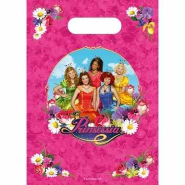 Prinsessia thema feestzakjes 6 stuks feestje