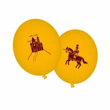 Ridderfeest ballonnen geel- feestje!