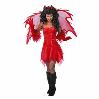 Rode dames feest jurk- feestje!