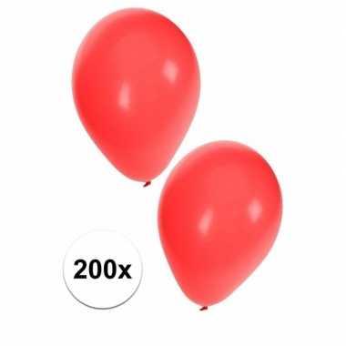 Rode feest ballonnen 200 stuks- feestje!