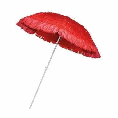 Rode parasol voor een hawaii feest- feestje!