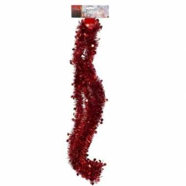 Rode tinsel feestslinger 270 cm- feestje!