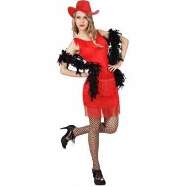Rood feestjurkje voor dames- feestje!