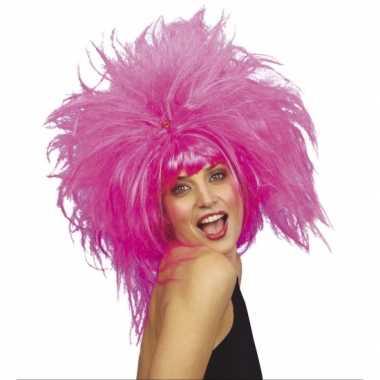 Roze feest damespruiken feestje