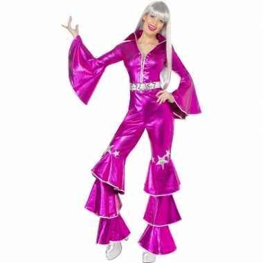 Roze seventies feestkleding dames- feestje!