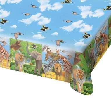 Safari/jungle themafeest tafelkleed 130 x 180 cm- feestje!