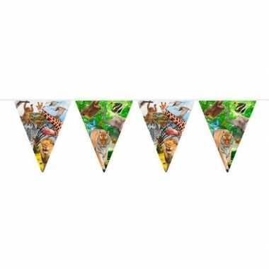 Safari/jungle themafeest vlaggenlijn 10 meter- feestje!