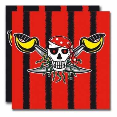 Servetten voor een piraten feestje- feestje!