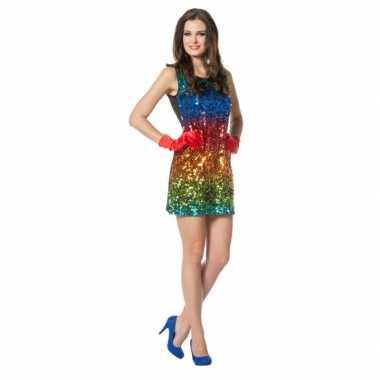 Sexy feestjurkje regenboog feestje