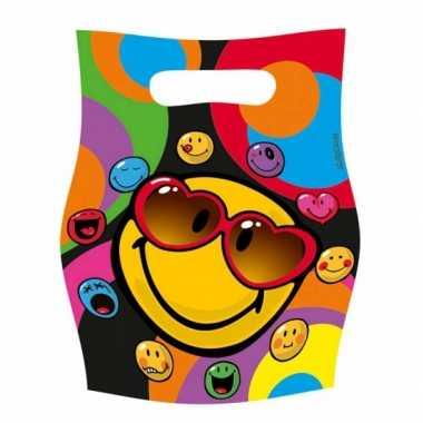 Smiley feestzakjes 6 stuks- feestje!