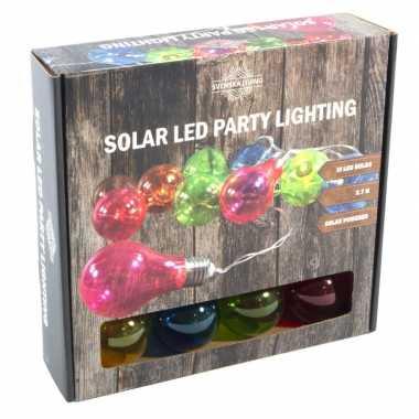 Solar feestverlichting/tuinverlichting met 10 neon gekleurde lampjes- feestje!