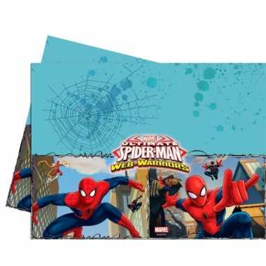 Spiderman feest tafelkleed 120 x 180 cm- feestje!