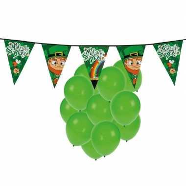 St. patricks day feestartikelen met ballonnen en slinger- feestje!