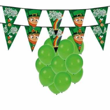 St. patricks day feestartikelen met ballonnen en slingers- feestje!