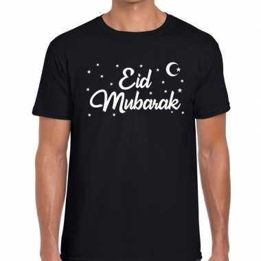 Suikerfeest eid mubarak t-shirt zwart herenfeestje!