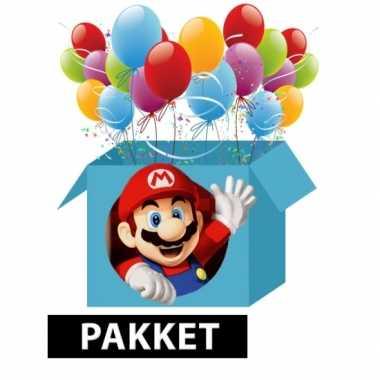 Super mario kinderfeest pakket- feestje!