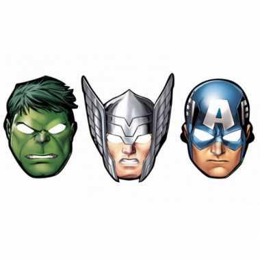 The avengers feest maskers 8 stuks feestje