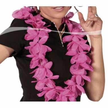 Thema feest hawaii krans roze- feestje!